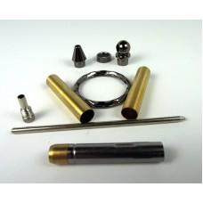 Mini Keyring Pen Kits Gun Metal