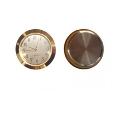 Gold plated Clock Insert with roman numerals Ø 33mm