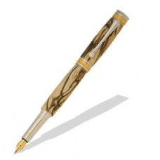 Majestic Jr 22kt Gold/Rhodium Fountain Pen Kit