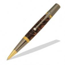 Majestic Squire Gold TiN & Black TN Ballpoint Twist Pen Kit
