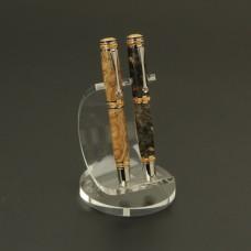 2 Pen Semi-Circular Premium Acrylic Pen Stand