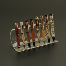 8 Pen Semi-Circular Premium Acrylic Pen Stand