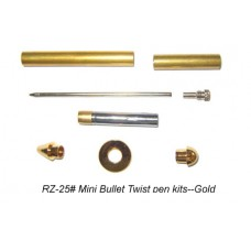 Mini Bullet Gold Twist Pen Kit
