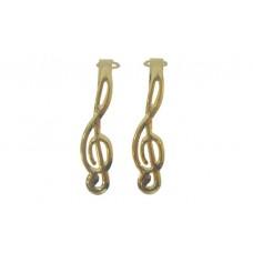 Gold Treble Clef clips