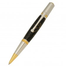 Majestic Squire Gold TiN & Chrome Ballpoint Twist Pen Kit