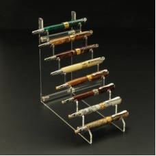 8 Pen Horizontal Clear Acrylic Pen Display Stand
