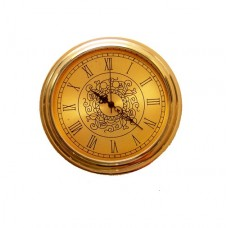 Gold plated Clock Insert with gold dial and roman numerals Dia. Ø33mm