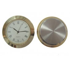 Gold plated Clock Insert with roman numerals Dia Ø 50mm