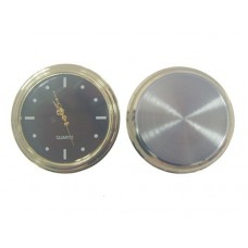 Gold plated Clock Insert with black dial Dia. Ø55mm