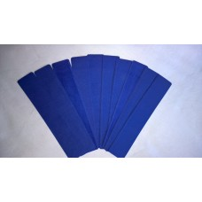 Pack of 10 Velvet effect plastic slip Pouch (Blue)