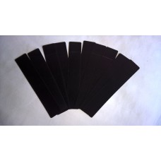 Pack of 10 Velvet effect plastic slip Pouch (Black)