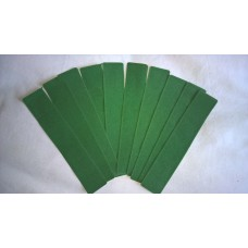 Pack of 10 Velvet effect plastic slip Pouch (Green)