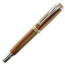 Jr. Statesman II Postable Rollerball Pen Kit Rhodium/22k Gold